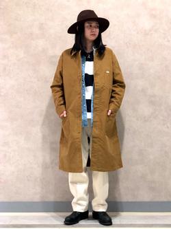 Lee 名古屋店のTakayaさんのLeeのバンドカラーシャツ/長袖を使ったコーディネート