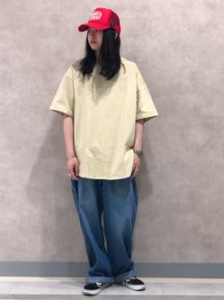 Lee 名古屋店のTakayaさんのLeeの【軽くて涼しい】ライトウエイト ペインターパンツを使ったコーディネート