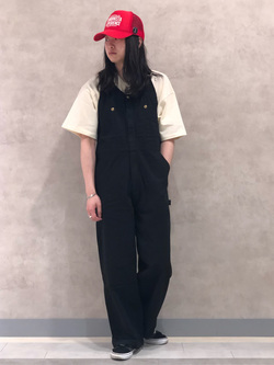 Lee 名古屋店のTakayaさんのLeeの【Lee×GRAMICCI(グラミチ)】フロントジップ オーバーオールを使ったコーディネート