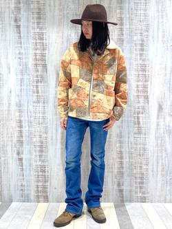 Lee 名古屋店のTakayaさんのLeeのパッチワーク ボアジャケットを使ったコーディネート