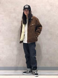 Lee 名古屋店のTakayaさんのLeeのARCHIVES REAL VINTAGE 101Z 1952年復刻モデル (RAW 生デニム)を使ったコーディネート