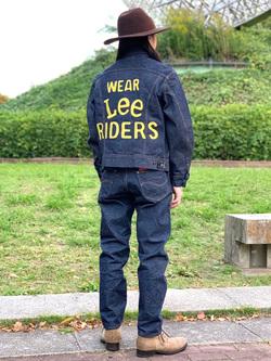 Lee 名古屋店のTakayaさんのLeeの101 PROJECT RIDERS テーパードデニムパンツを使ったコーディネート