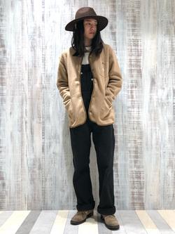 Lee 名古屋店のTakayaさんのLeeの【Winter sale】【ユニセックス】【やわらかフリース】ノーカラージャケットを使ったコーディネート