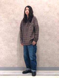 Lee 名古屋店のTakayaさんのLeeのチェック柄 長袖シャツを使ったコーディネート