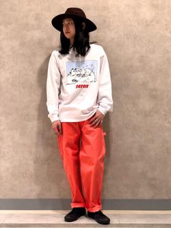 Lee 名古屋店のTakayaさんのLeeの【BuddyLee100周年記念】Lee×望月玲児郎 長袖Tシャツを使ったコーディネート