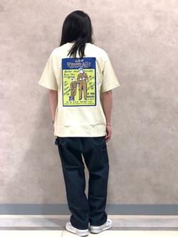 Lee 名古屋店のTakayaさんのLeeのバックプリント 半袖Tシャツを使ったコーディネート