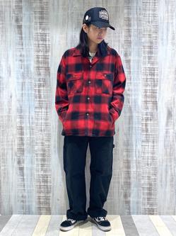 Lee 名古屋店のTakayaさんのLeeの【トップス15%OFFクーポン対象】【さらっと羽織れる】シャツジャケットを使ったコーディネート