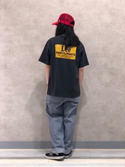 Lee 名古屋店のTakayaさんのLeeの【再値下げSALE】バックプリント 半袖Tシャツを使ったコーディネート