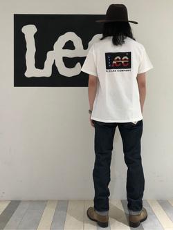 Lee 名古屋店のTakayaさんのLeeの終了【サマーセール】【男女兼用】バックプリントTシャツ半袖2を使ったコーディネート