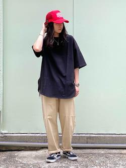 Lee 名古屋店のTakayaさんのLeeの【SALE】ラウンドヘム 半袖Tシャツを使ったコーディネート