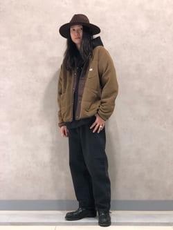 Lee 名古屋店のTakayaさんのLeeのフリース ショートカーディガンを使ったコーディネート