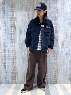 Lee 名古屋店のTakayaさんのLeeのLEE PIPES ビッグフィット バギージャケットを使ったコーディネート