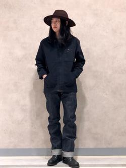 Lee 名古屋店のTakayaさんのLeeの【narifuri×Lee】91B 高耐久ストレッチワークジャケットを使ったコーディネート
