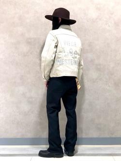 Lee 名古屋店のTakayaさんのの【ベストセラー】WRANCHER/ランチャー ドレスパンツ(レングス74cm)を使ったコーディネート