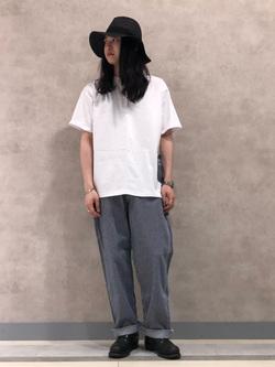 Lee 名古屋店のTakayaさんのLeeの【PreSALE】【直営店・WEB限定】ペインターポケット半袖Tシャツを使ったコーディネート