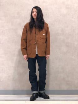 Lee 名古屋店のTakayaさんのLeeの【期間限定10%OFF】カバーオールジャケットを使ったコーディネート