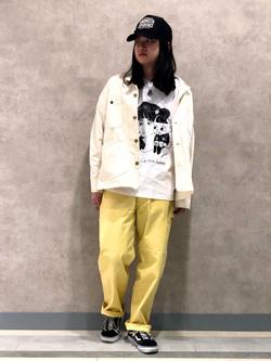Lee 名古屋店のTakayaさんのLeeの【BuddyLee100周年記念】Lee×牛木匡憲 半袖Tシャツを使ったコーディネート