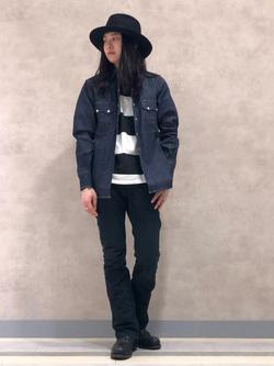 Lee 名古屋店のTakayaさんのLeeのARCHIVES 50s RIDERS ヴィンテージシャツ(RAW 生デニム)を使ったコーディネート