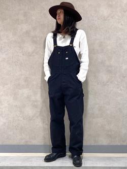 Lee 名古屋店のTakayaさんのLeeの【年間ベストセラー】オーバーオールを使ったコーディネート