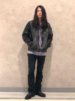 Lee 名古屋店のTakayaさんのLeeのフェイクレザー ワークジャケットを使ったコーディネート