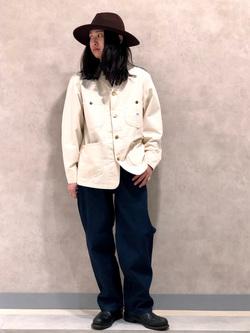 Lee 名古屋店のTakayaさんのLeeのルーズシルエット ワークデニムパンツを使ったコーディネート
