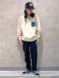 Lee 名古屋店のTakayaさんのLeeの【オールシーズン使える】ラクして決まる イージーペインターパンツを使ったコーディネート