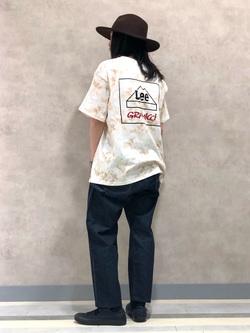 Lee 名古屋店のTakayaさんのLeeの【予約】【Lee×GRAMICCI(グラミチ)】バックプリント 半袖Tシャツを使ったコーディネート