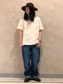 Lee 名古屋店のTakayaさんのLeeの【SALE】タイダイ柄 半袖Tシャツを使ったコーディネート