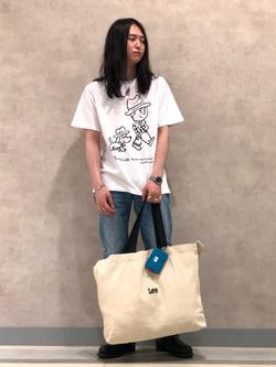 Lee 名古屋店のTakayaさんのLeeの【Buddy Lee100周年記念】Lee×SANDER STUDIO 半袖Tシャツを使ったコーディネート