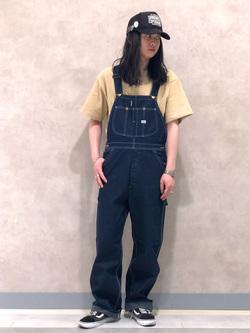 Lee 名古屋店のTakayaさんのLeeの【再値下げSALE】【鹿の子素材】ワンポイント 半袖Tシャツを使ったコーディネート