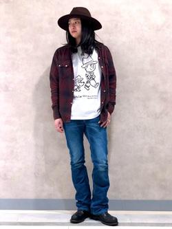 Lee 名古屋店のTakayaさんのLeeの【BuddyLee100周年記念】Lee×SANDER STUDIO 半袖Tシャツを使ったコーディネート