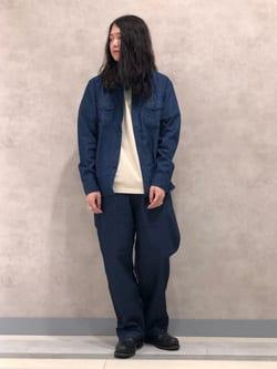 Lee 名古屋店のTakayaさんのLeeのワークシャツ 長袖を使ったコーディネート
