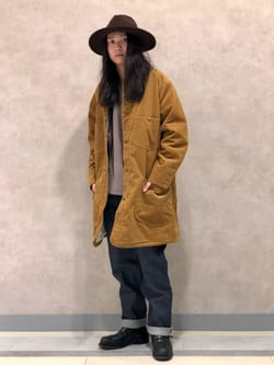 Lee 名古屋店のTakayaさんのLeeの【期間限定10%OFF】ロコ ロングジャケット コーデュロイを使ったコーディネート