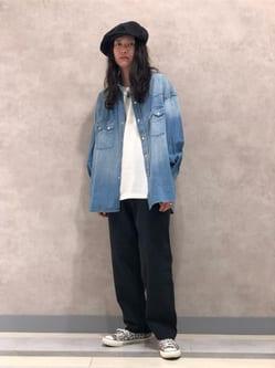 Lee 名古屋店のTakayaさんのLeeの【試着対象】SUPERSIZED デニムシャツを使ったコーディネート