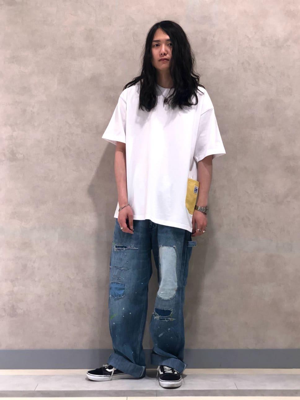 Lee 名古屋店のTakayaさんのLeeの【SALE】【直営店・WEB限定】ペインターポケット半袖Tシャツを使ったコーディネート