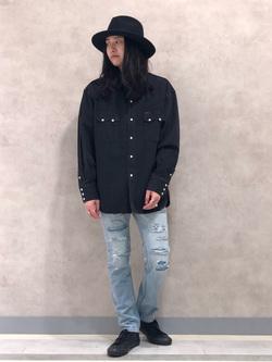 Lee 名古屋店のTakayaさんのLeeのBLACK RIDERS デニムシャツを使ったコーディネート