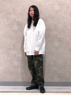 Lee 名古屋店のTakayaさんのLeeのラウンドカラー 長袖シャツを使ったコーディネート