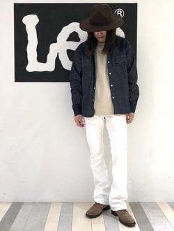 Lee 名古屋店のTakayaさんのLeeの【narifuri×Lee】ストレッチ ウエスタンシャツを使ったコーディネート