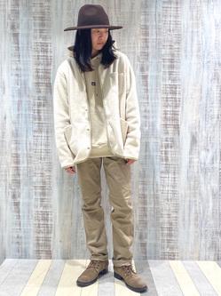 Lee 名古屋店のTakayaさんのLeeの【ユニセックス】【やわらかフリース】ノーカラージャケットを使ったコーディネート