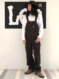 Lee 名古屋店のTakayaさんのLeeの【男女兼用】刺繍Leeロゴ パーカーを使ったコーディネート