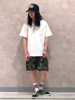Lee 名古屋店のTakayaさんのLeeの【Lee×GRAMICCI(グラミチ)】ペインター ショートパンツを使ったコーディネート