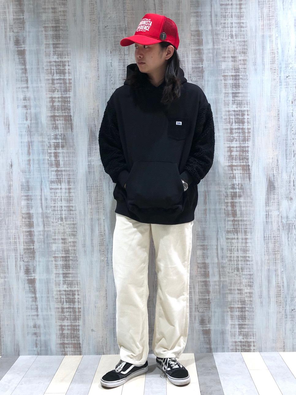 Lee 名古屋店のTakayaさんのLeeの【ユニセックス】ボアフーディーを使ったコーディネート