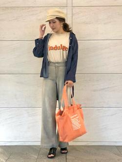 LINKS UMEDA店のhiroさんのEDWINの【ガレージセール】EDWIN USED LOOK 半袖Tシャツ【ユニセックス】を使ったコーディネート