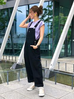 LINKS UMEDA店のhiroさんのC17のC17 ノースリーブタックTシャツを使ったコーディネート