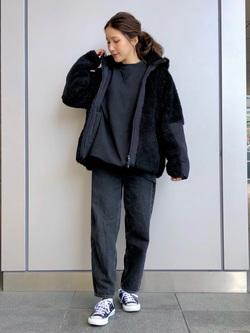 LINKS UMEDA店のhiroさんのEDWINの【Winter sale】F.L.E ボア フリースジャケットを使ったコーディネート