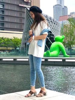 LINKS UMEDA店のhiroさんのEDWINの【限定】ジーパン女子×江口寿史 Tシャツ Shoelace 【ユニセックス】を使ったコーディネート