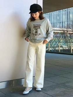 LINKS UMEDA店のhiroさんのEDWINのEDWIN LADIES ビッグフィット スウェットを使ったコーディネート