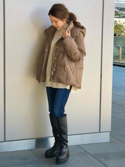 LINKS UMEDA店のhiroさんのEDWINのEDWIN LADIES ジャージーズ スリムストレート【スタンダードモデル】を使ったコーディネート
