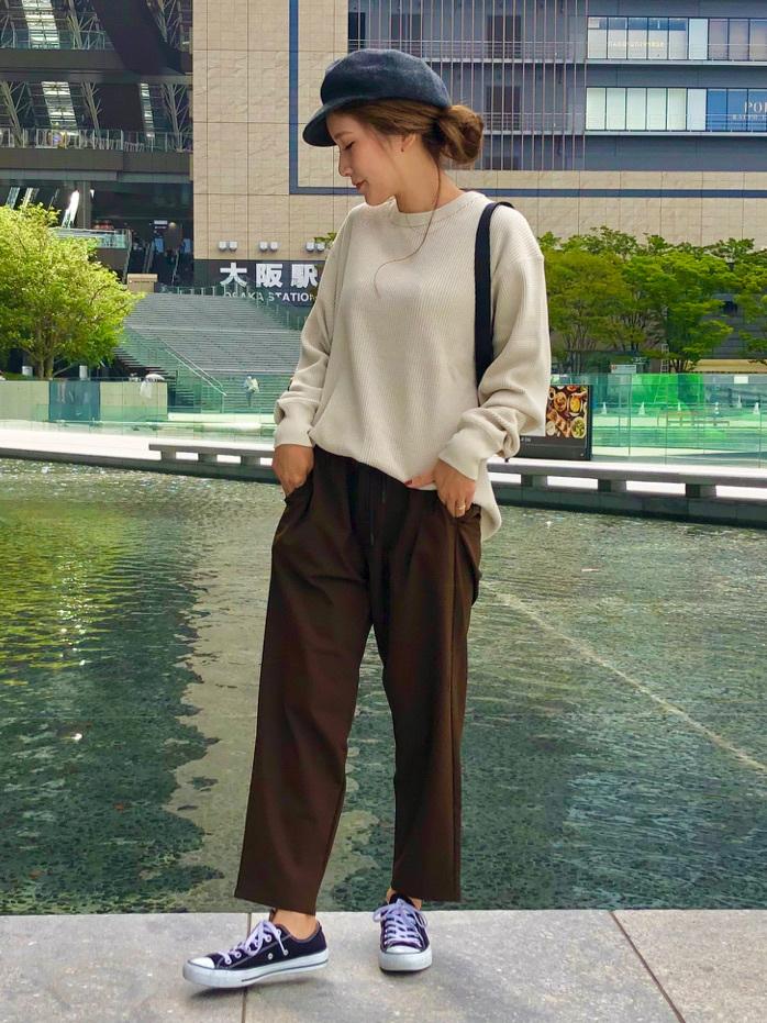 LINKS UMEDA店のhiroさんのEDWINのワッフル ロングスリーブTシャツを使ったコーディネート