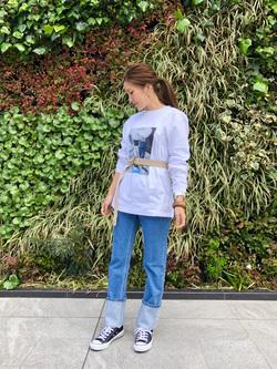LINKS UMEDA店のhiroさんのEDWINの終了【サマーセール】OLD AD BANGASA Tシャツ 長袖を使ったコーディネート